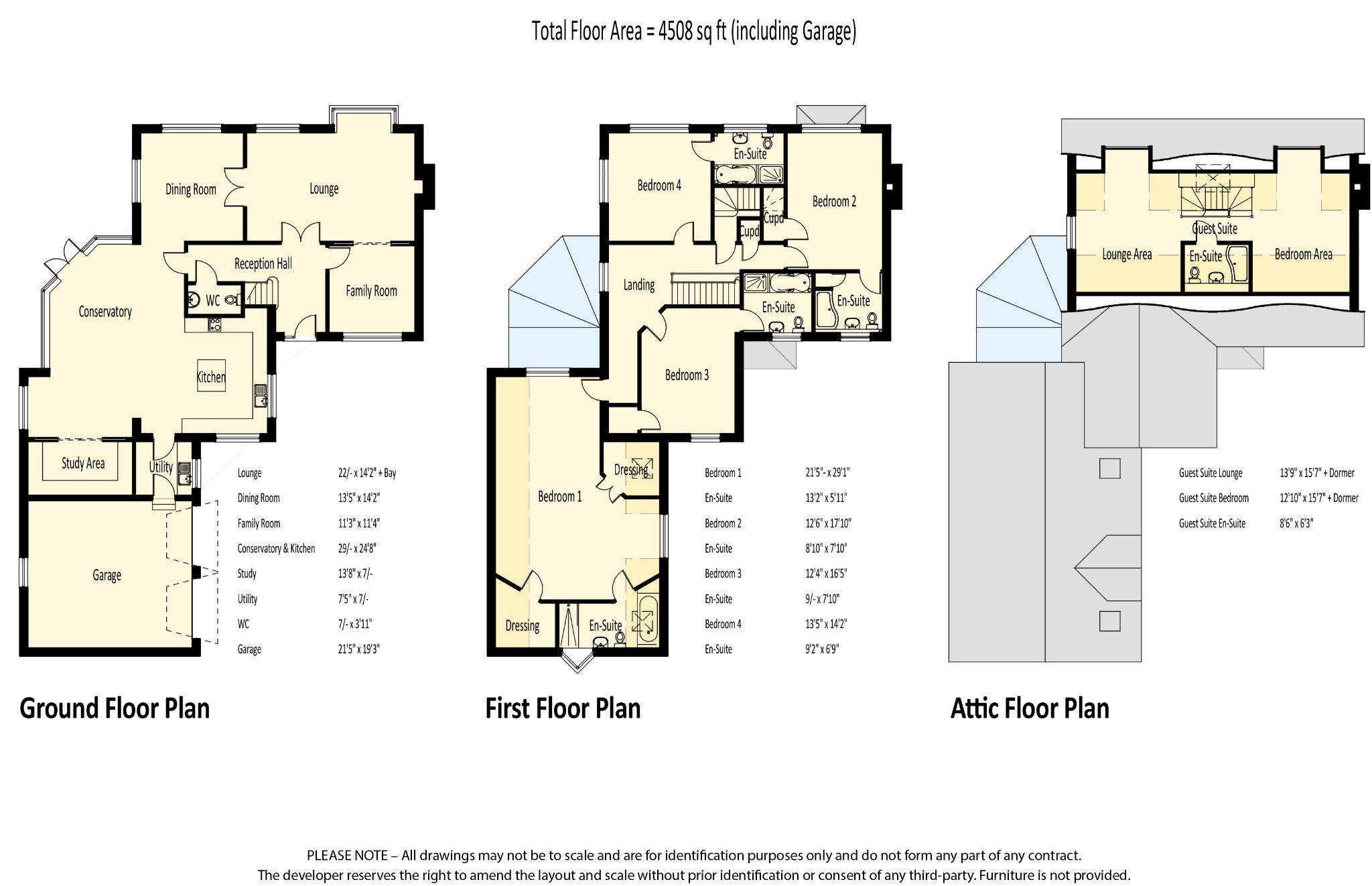 5 bedroom detached house For Sale in Union Mills - Floorplan 1