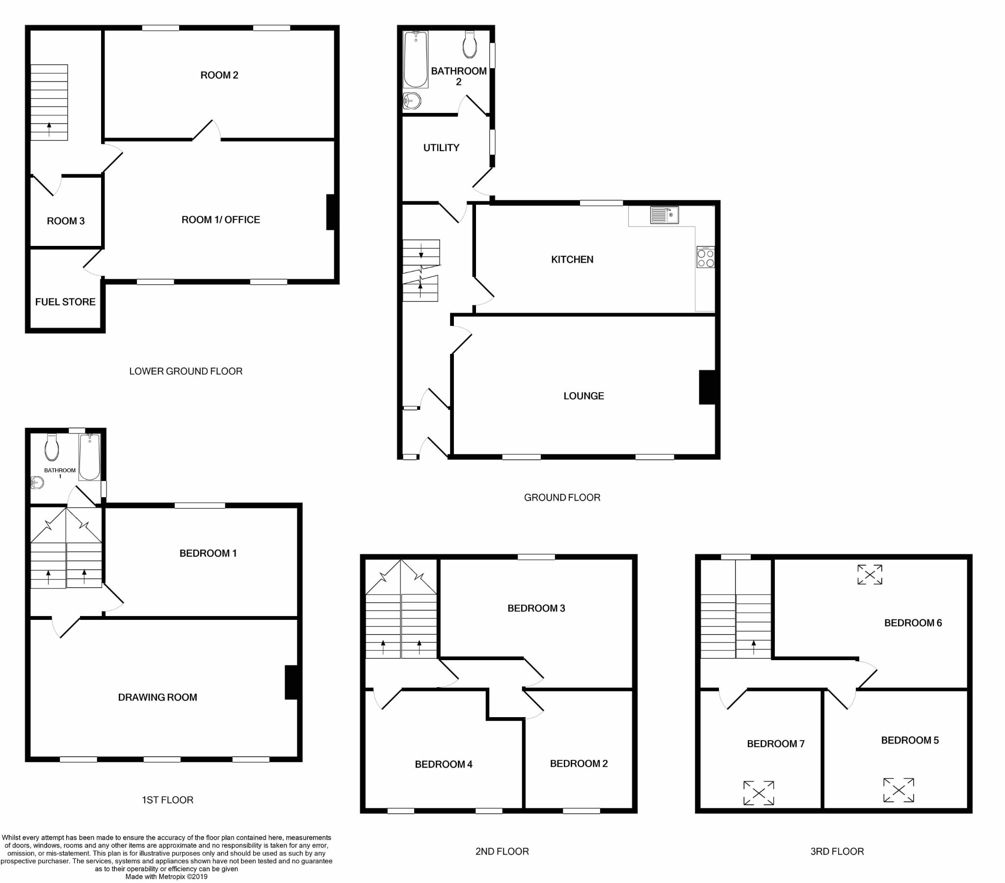 7 bedroom mid terraced house SSTC in Castletown - Floorplan 1