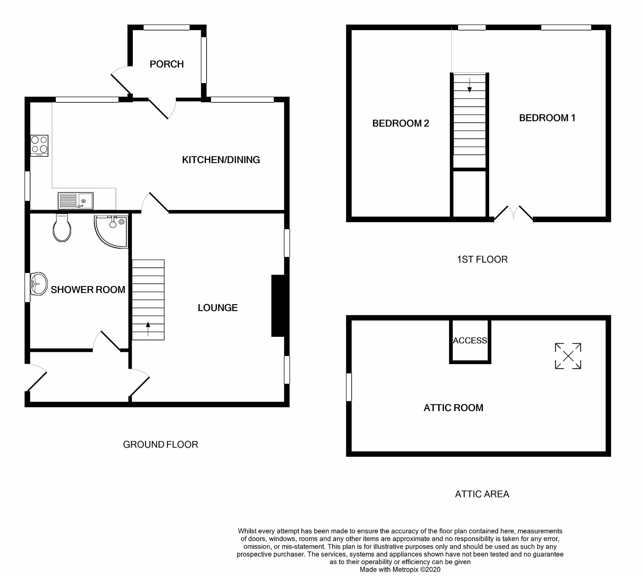 2 bedroom semi-detached house For Sale in Port St Mary - Floorplan 1