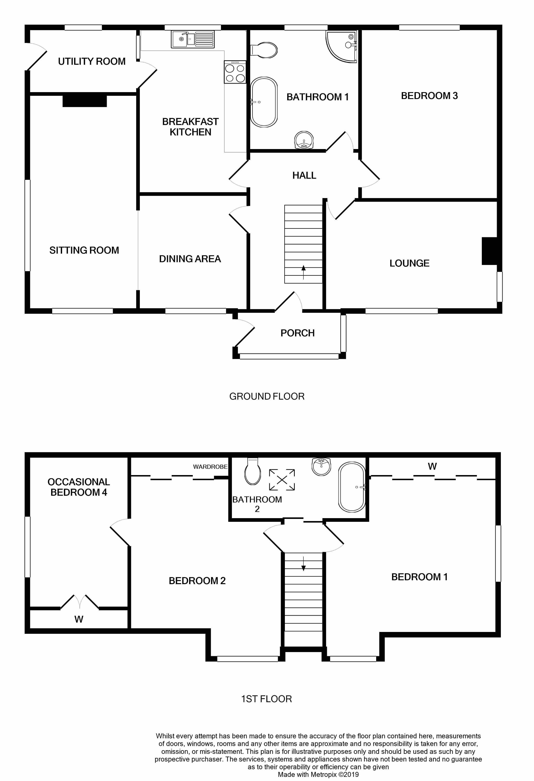 4 bedroom detached bungalow SSTC in Surby,port Erin - Floorplan 1