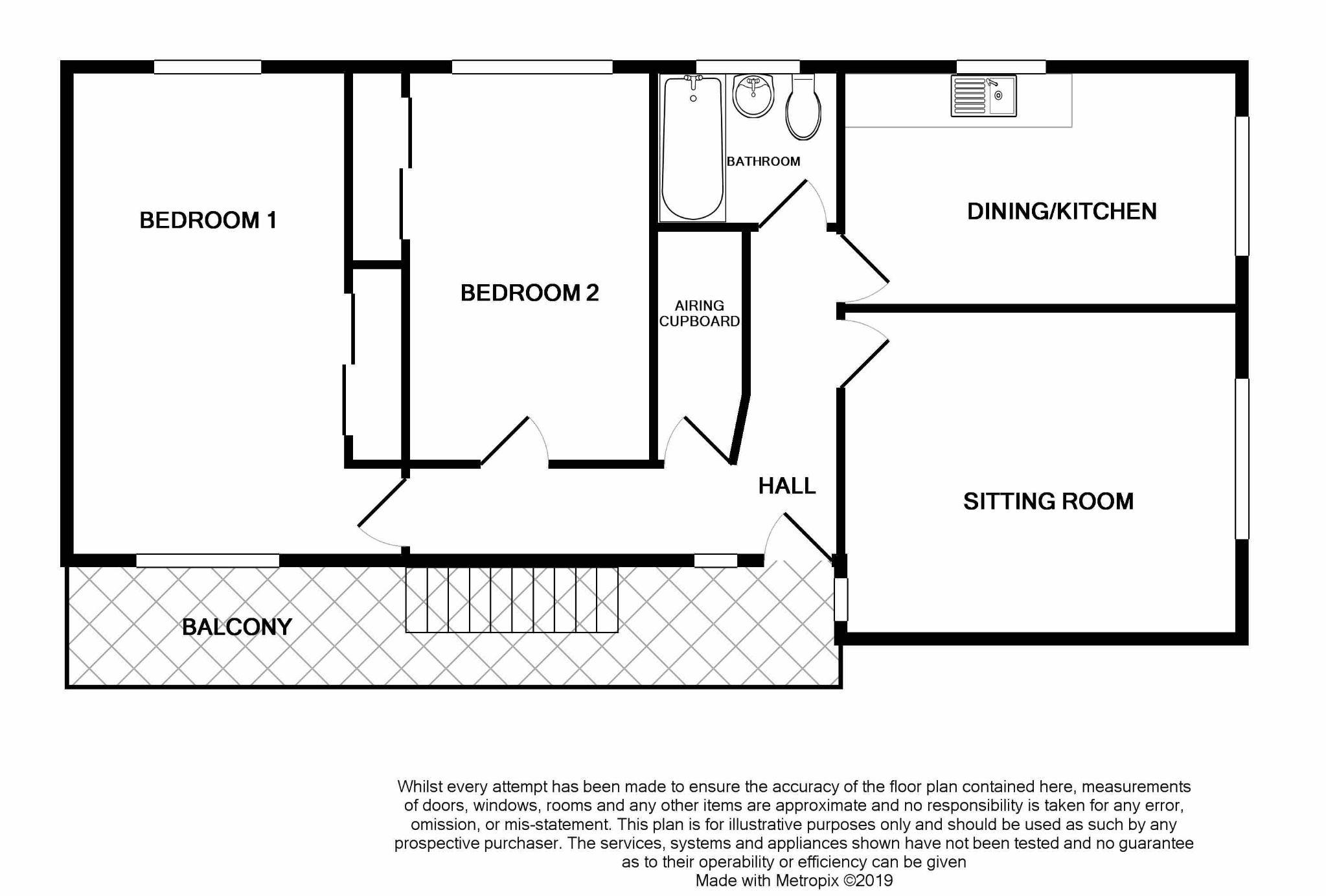 2 bedroom apartment flat/apartment SSTC in Port Erin - Floorplan 1