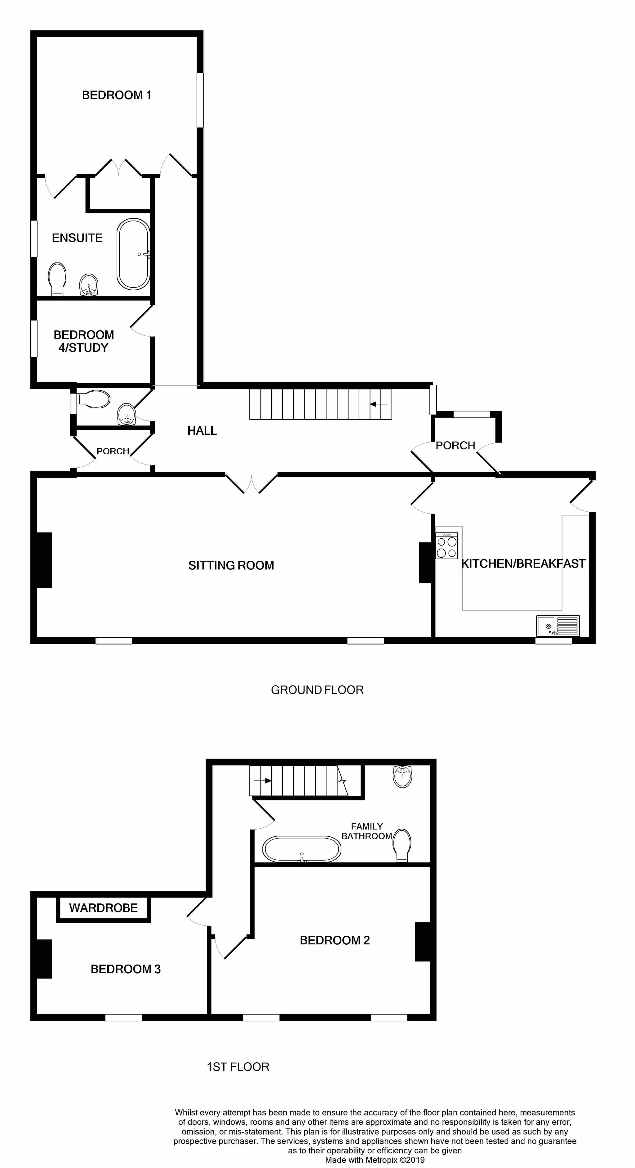 3 bedroom semi-detached house For Sale in Colby - Floorplan 1