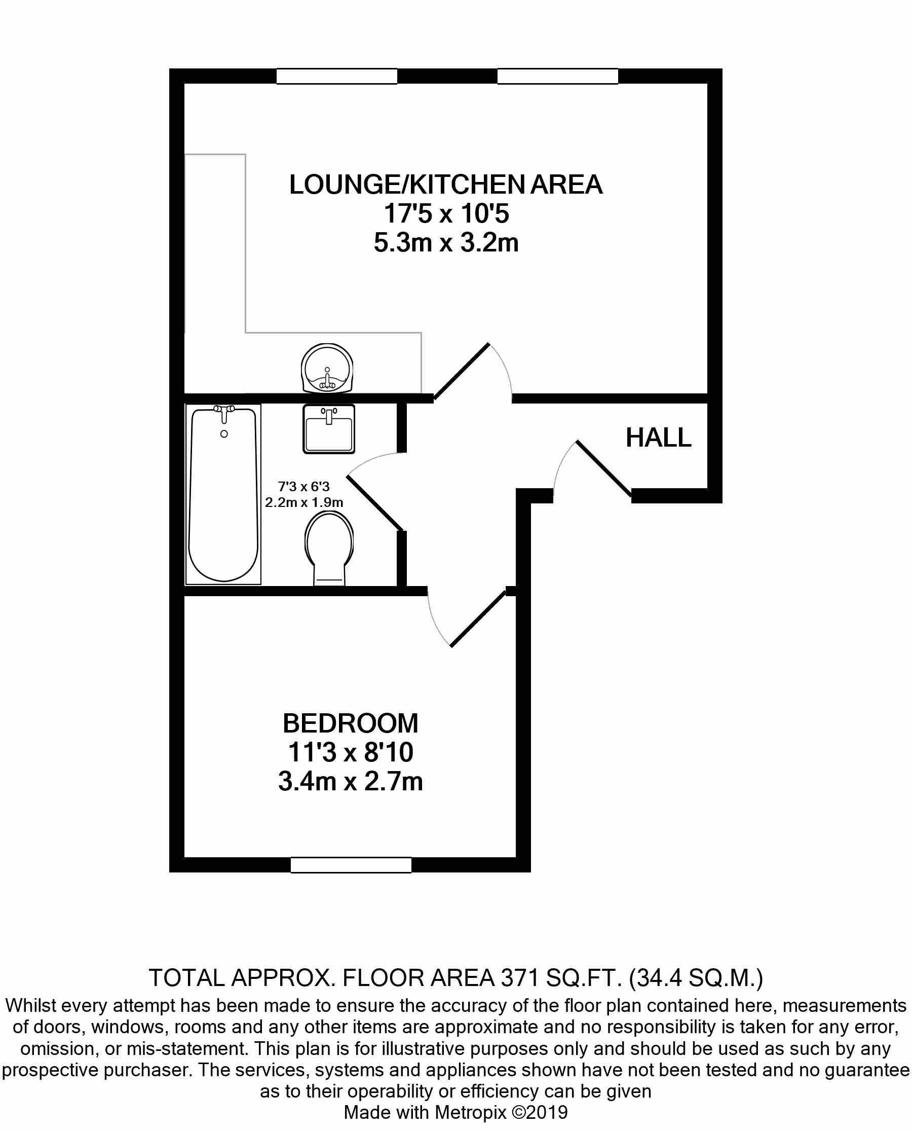 1 bedroom flat flat/apartment SSTC in Douglas - Floorplan 1