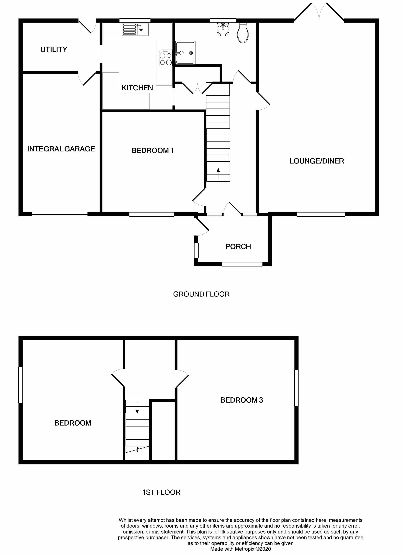 3 bedroom detached bungalow For Sale in Port Erin - Floorplan 1