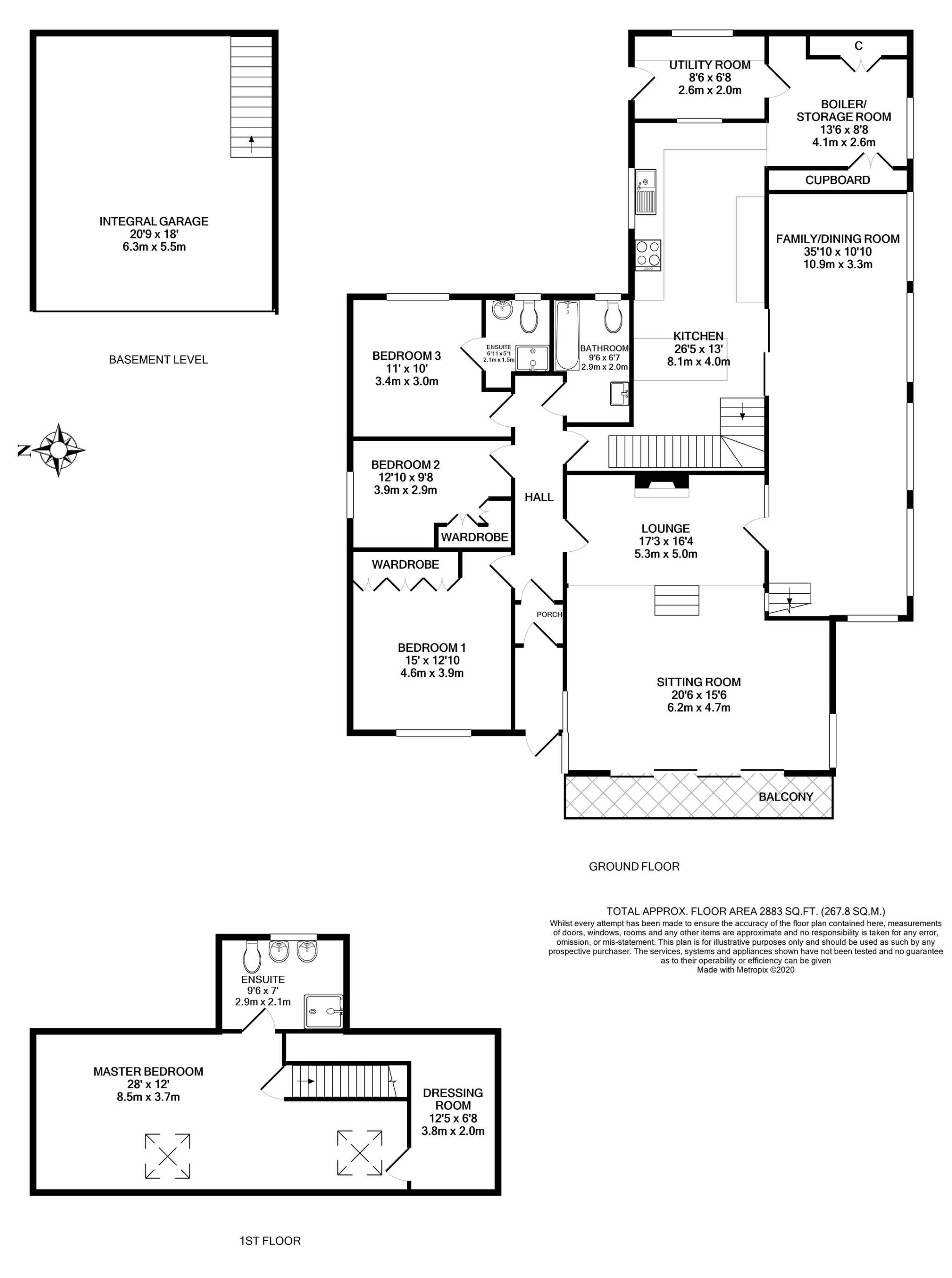 4 bedroom detached bungalow Under Offer in Kirk Michael - Floorplan 1