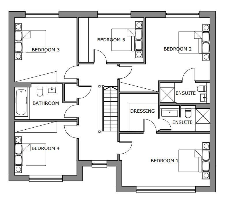 5 bedroom detached house For Sale in Glen Vine - Floorplan 2