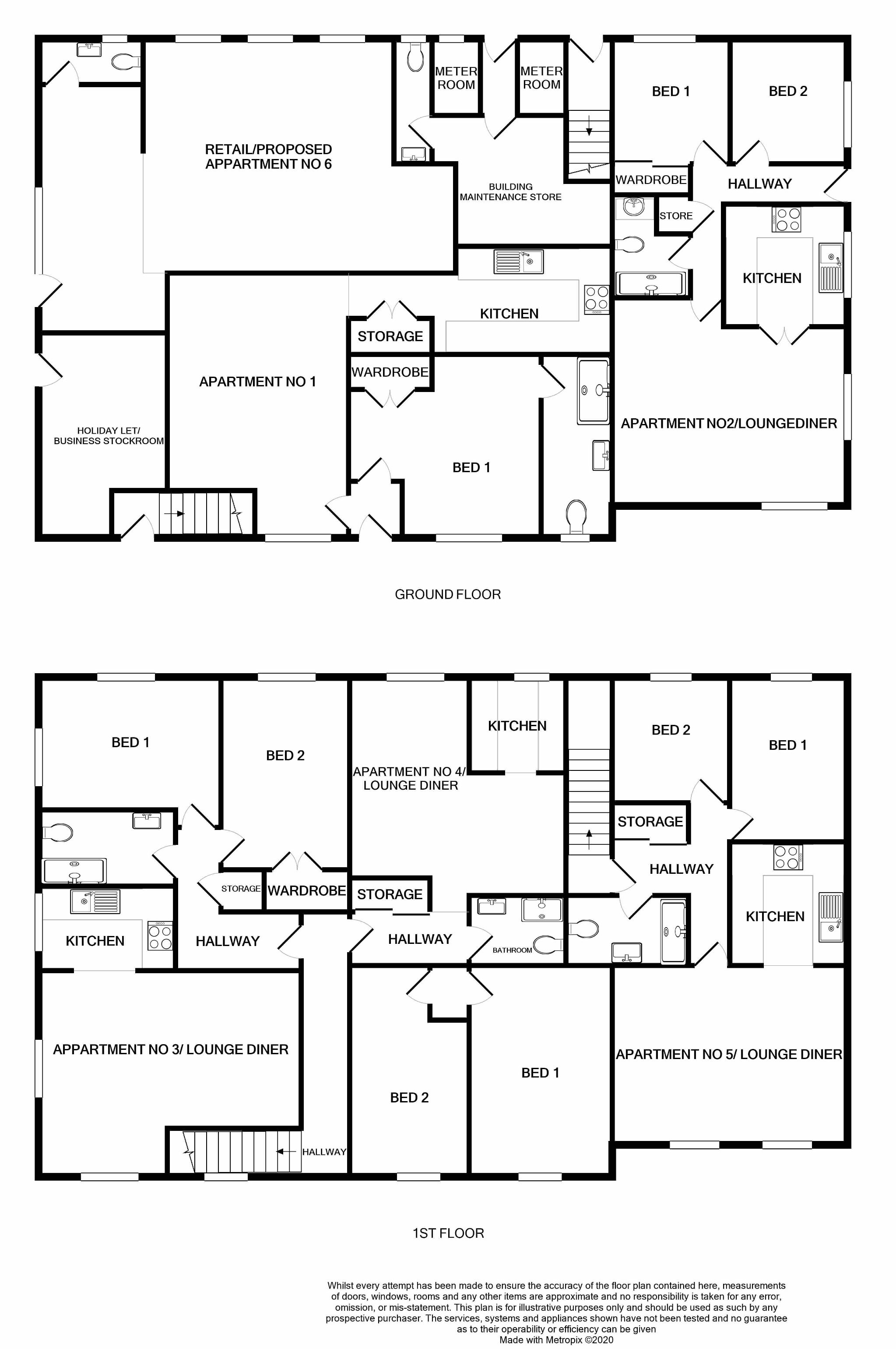 Holiday Flats For Sale in Port Erin - Floorplan 1