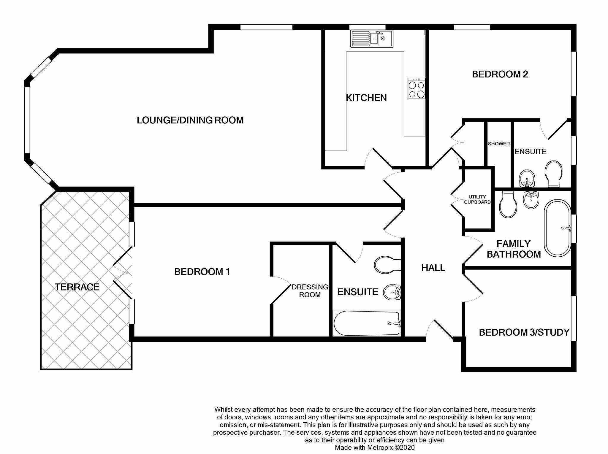 3 bedroom apartment flat/apartment For Sale in Port Erin - Floorplan 1