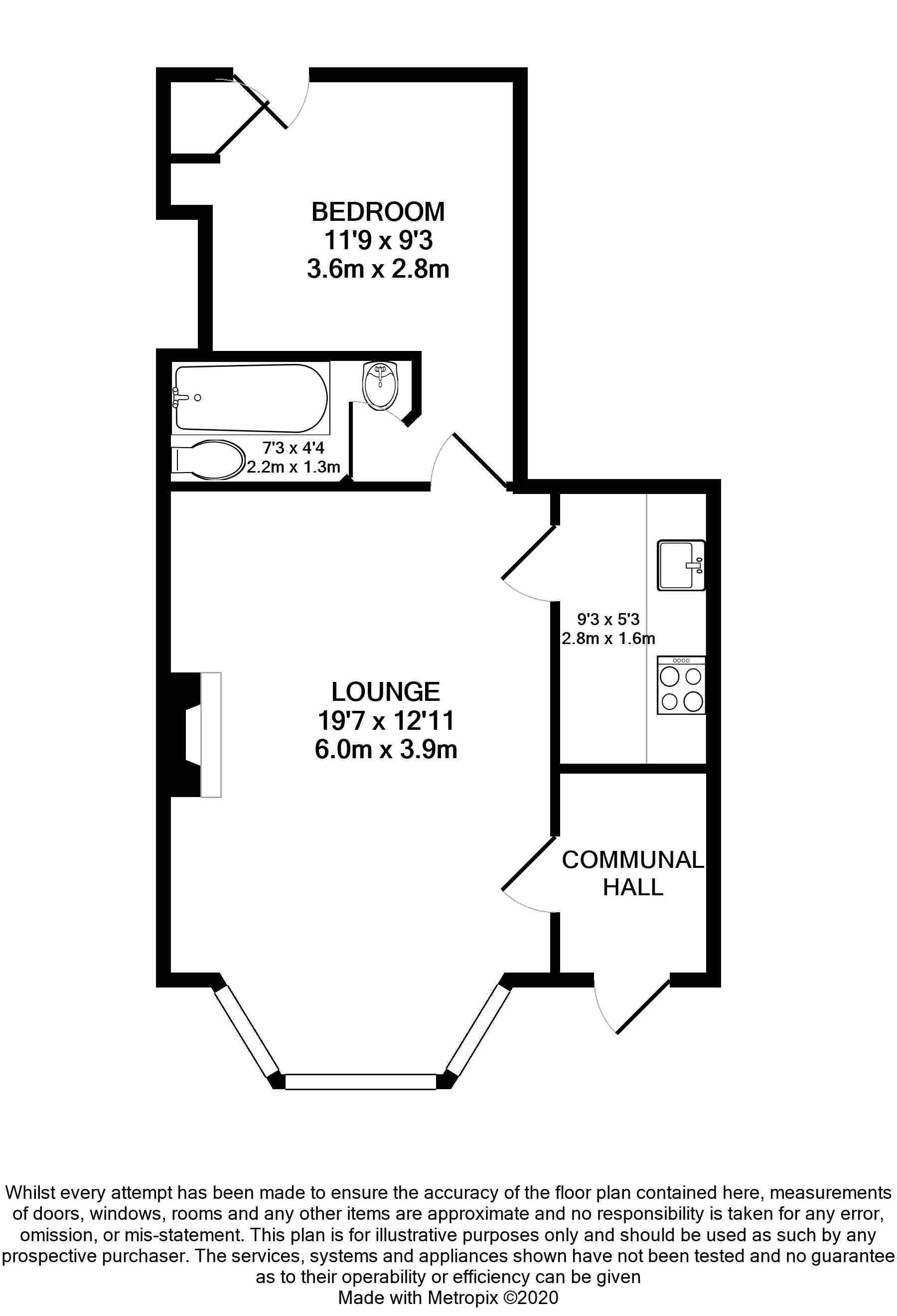 1 bedroom apartment flat/apartment Sale Agreed in Douglas - Floorplan 1