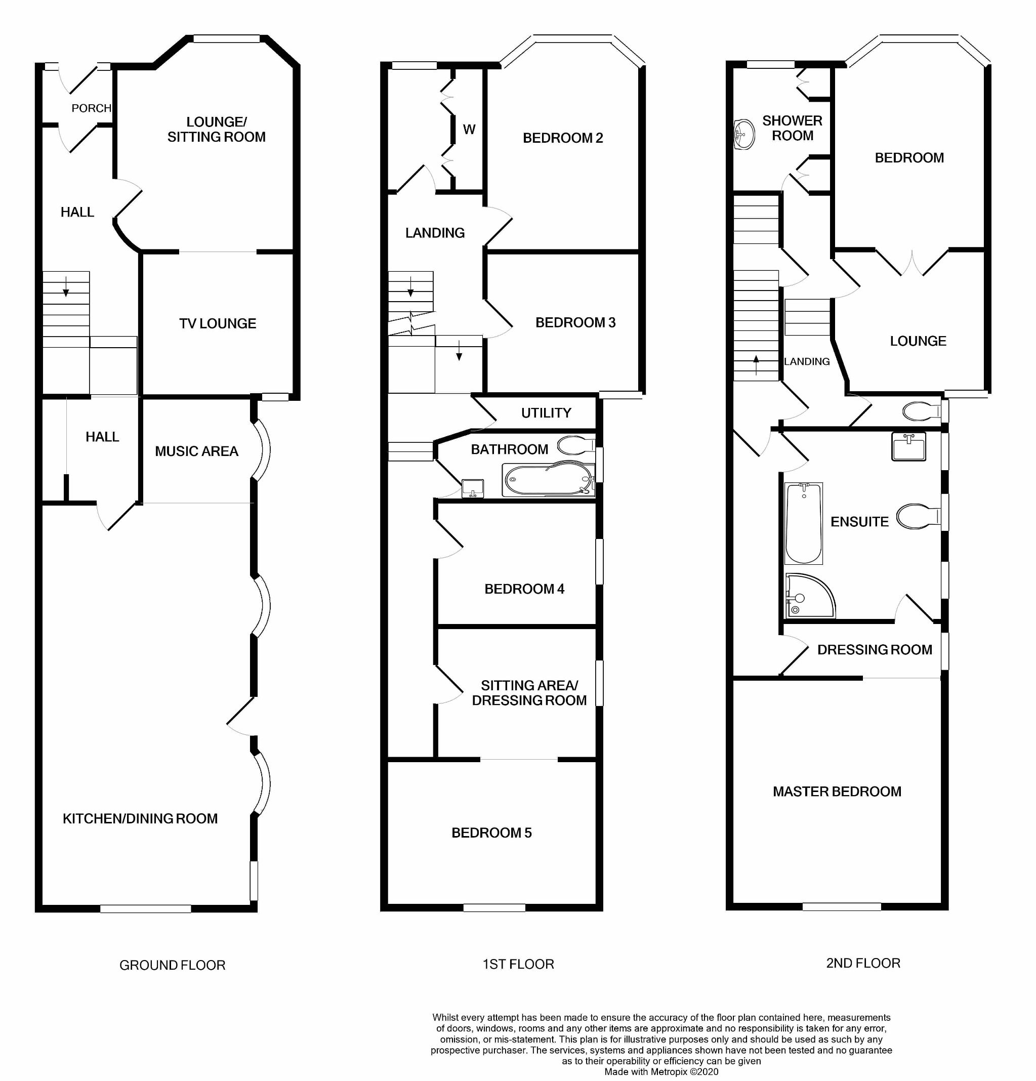 6 bedroom mid terraced house For Sale in Port Erin - Floorplan 1
