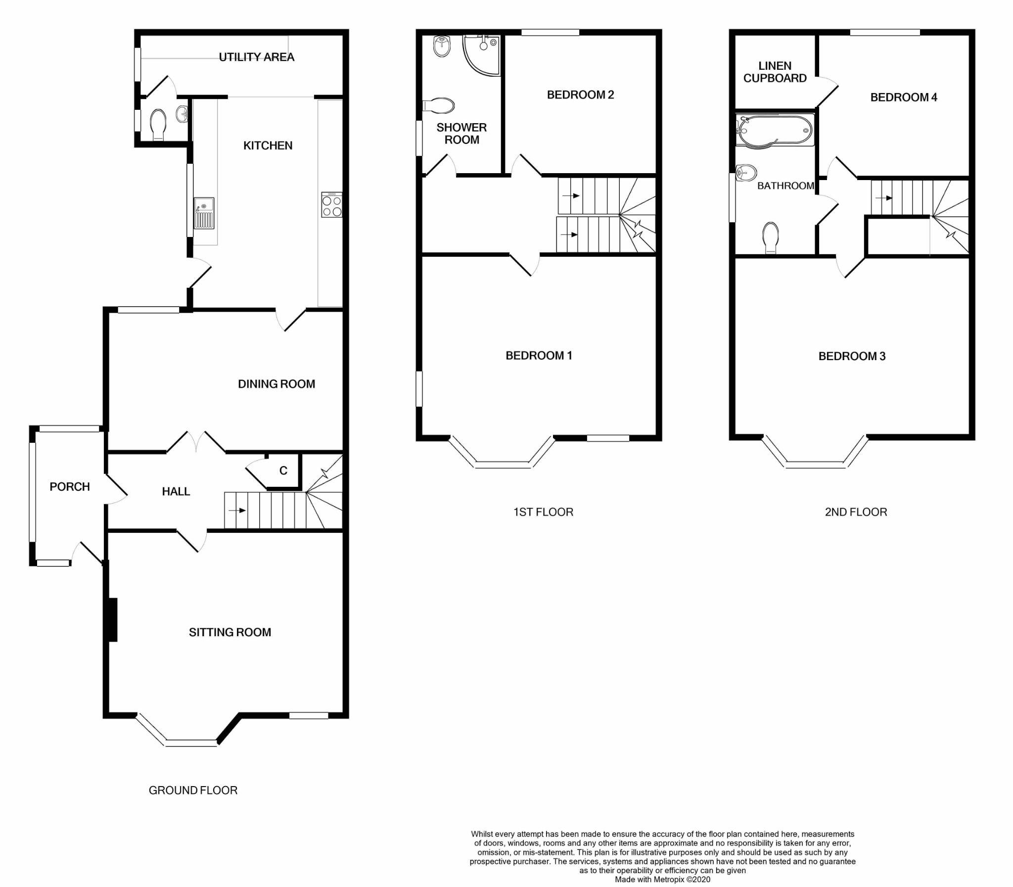 4 bedroom semi-detached house Under Offer in Port Erin - Floorplan 1