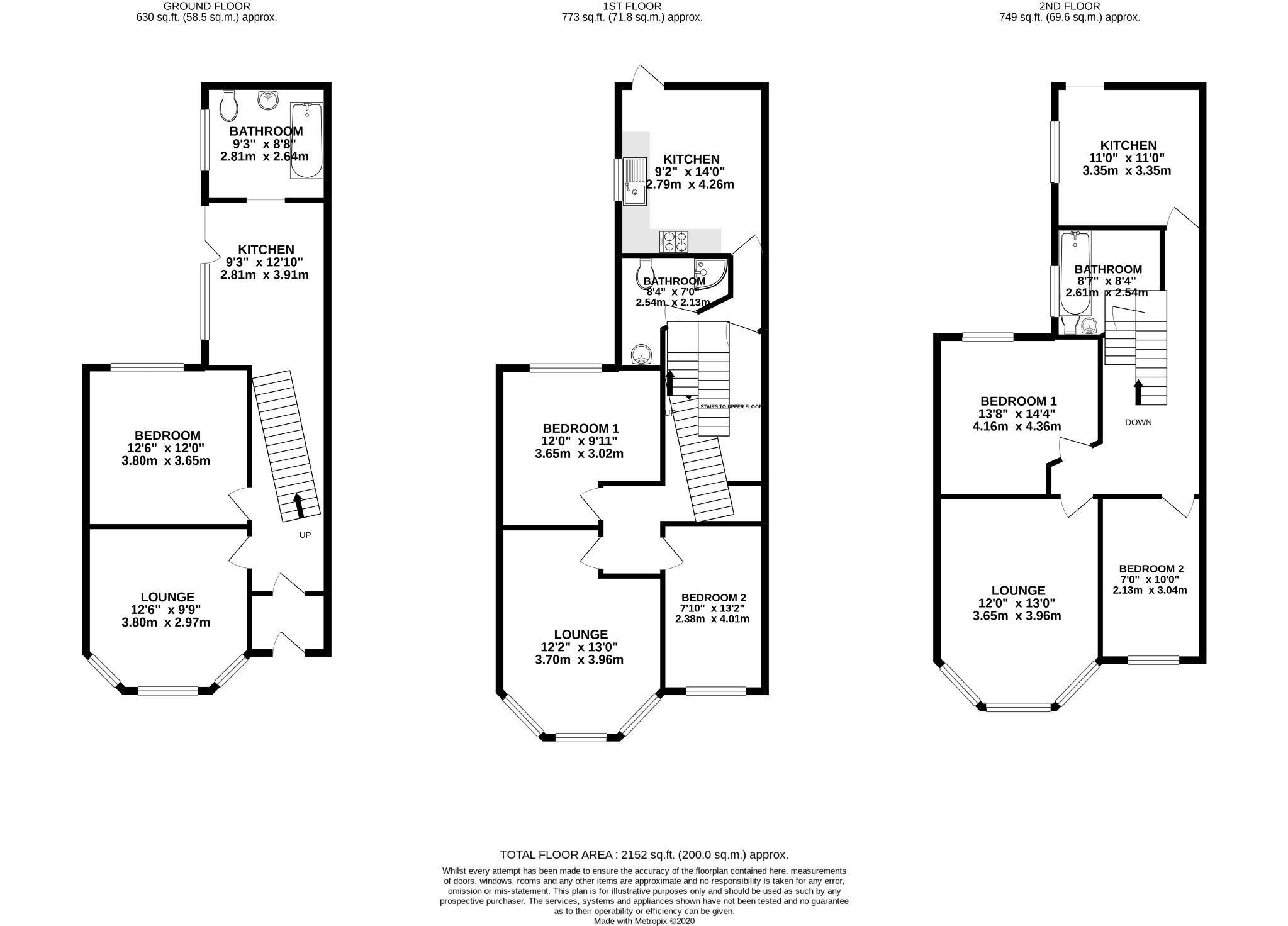 5 bedroom flat flat/apartment For Sale in Onchan - Floorplan 1