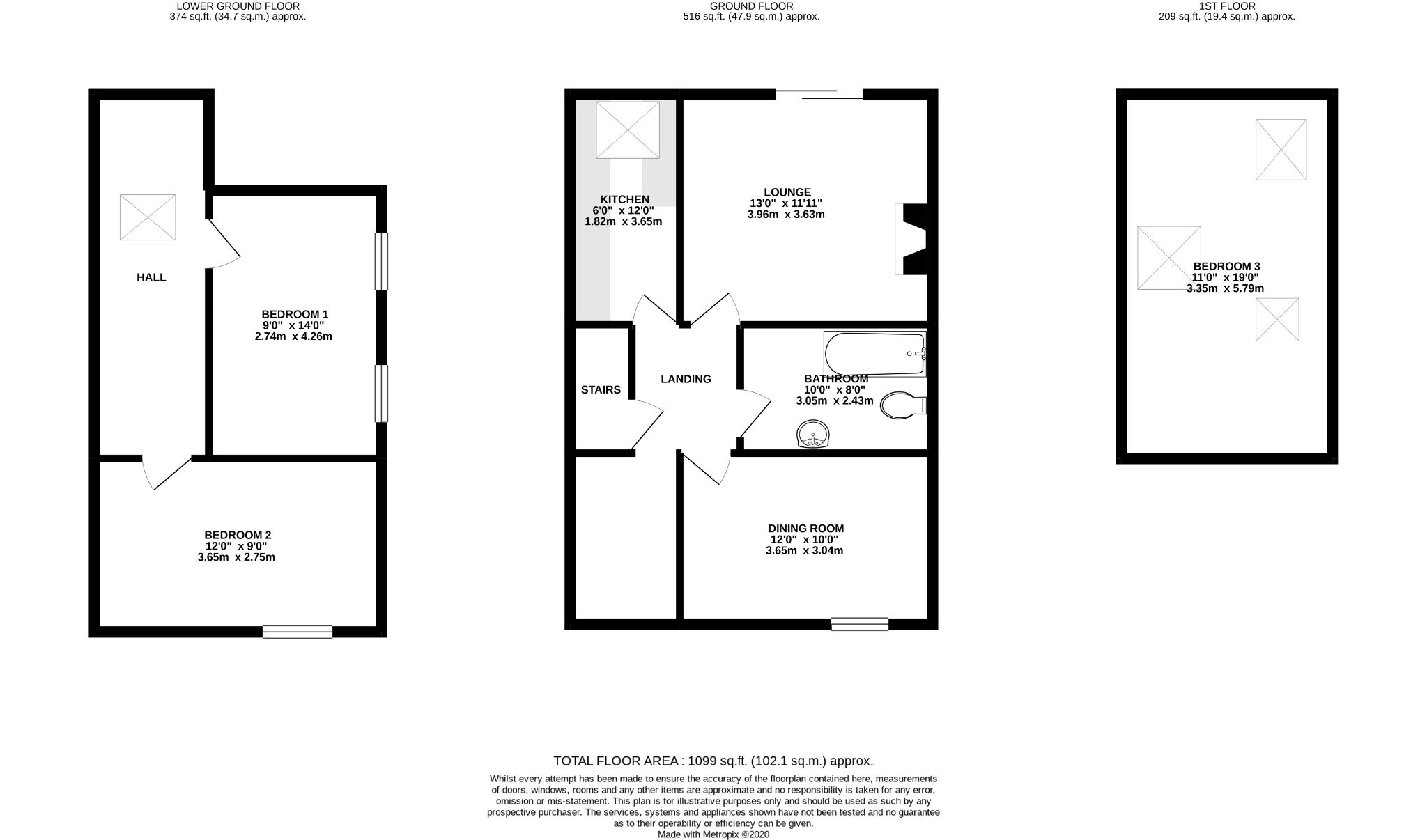 3 bedroom apartment flat/apartment SSTC in Douglas - Floorplan 1