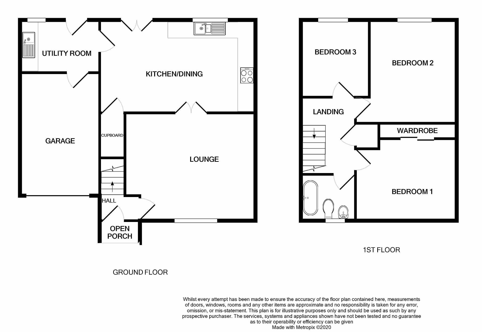 3 bedroom semi-detached house Under Offer in Port Erin - Floorplan 1