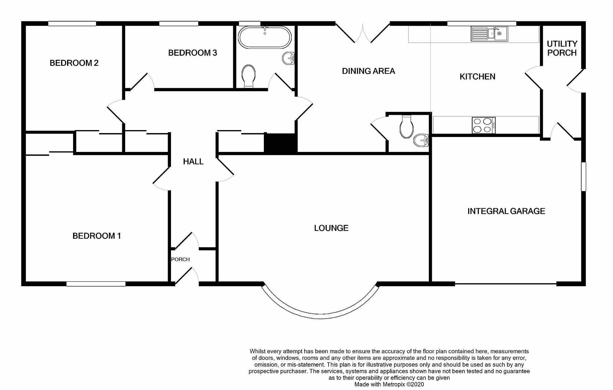 3 bedroom detached bungalow For Sale in Ballabeg - Floorplan 1