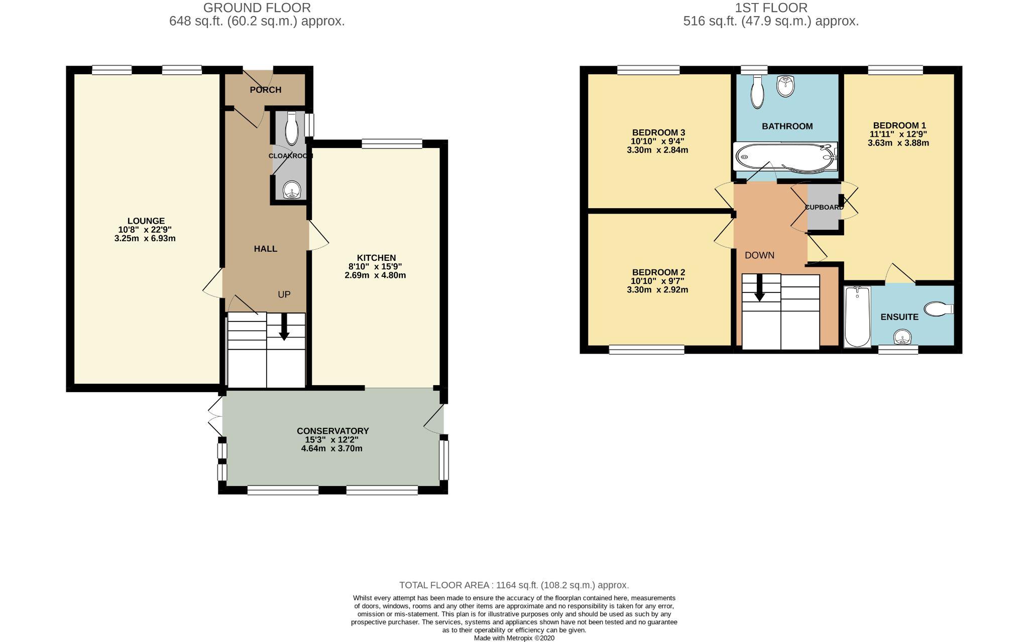 3 bedroom detached house SSTC in Port Erin - Floorplan 1