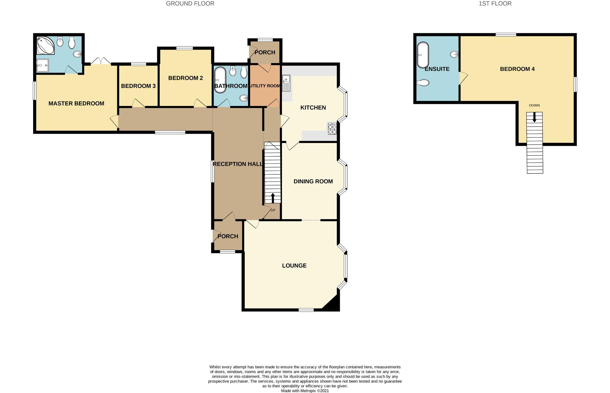 4 bedroom detached bungalow SSTC in Ballasalla - Floorplan 1