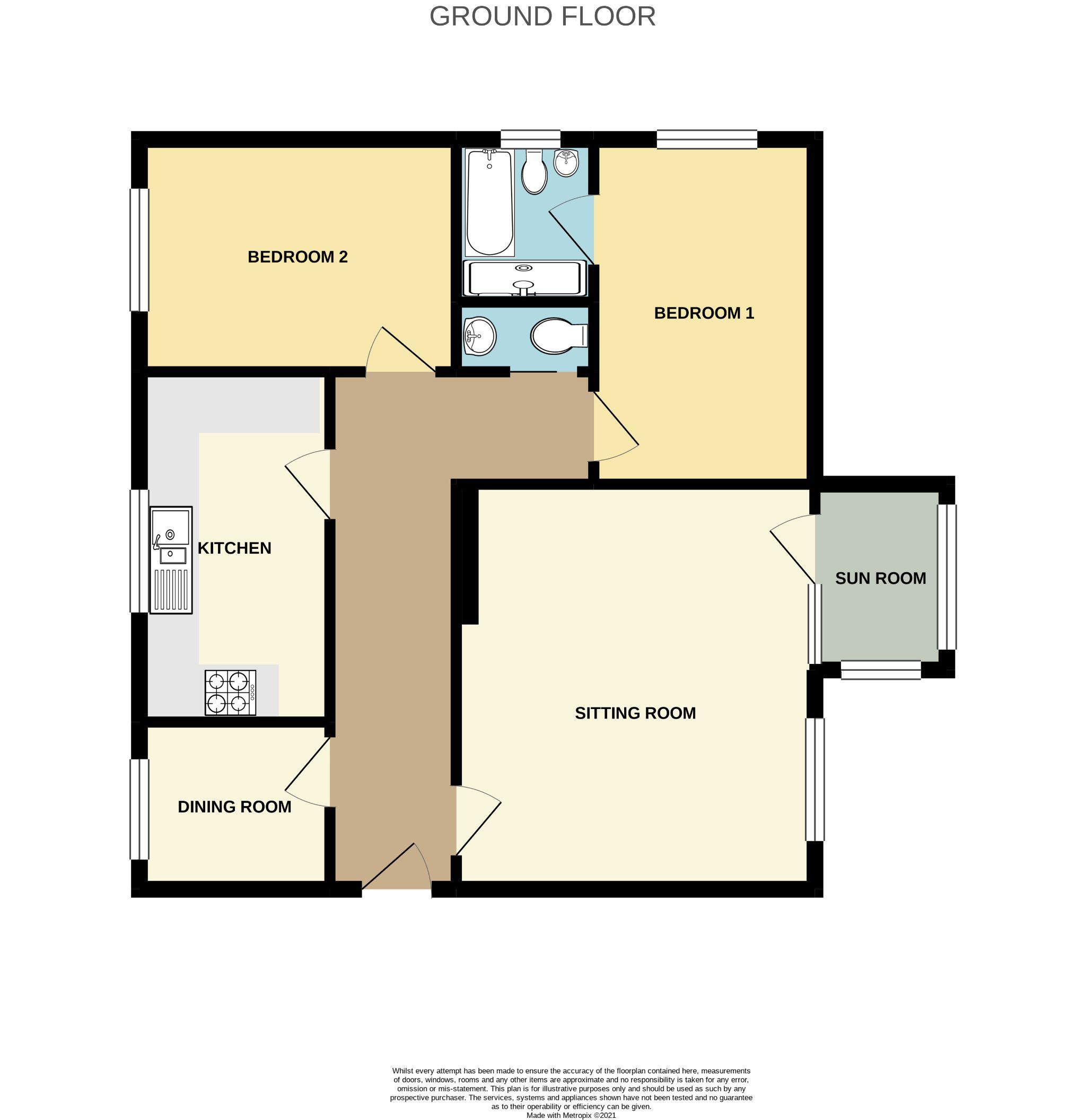 2 bedroom apartment flat/apartment For Sale in Port Erin - Floorplan 1
