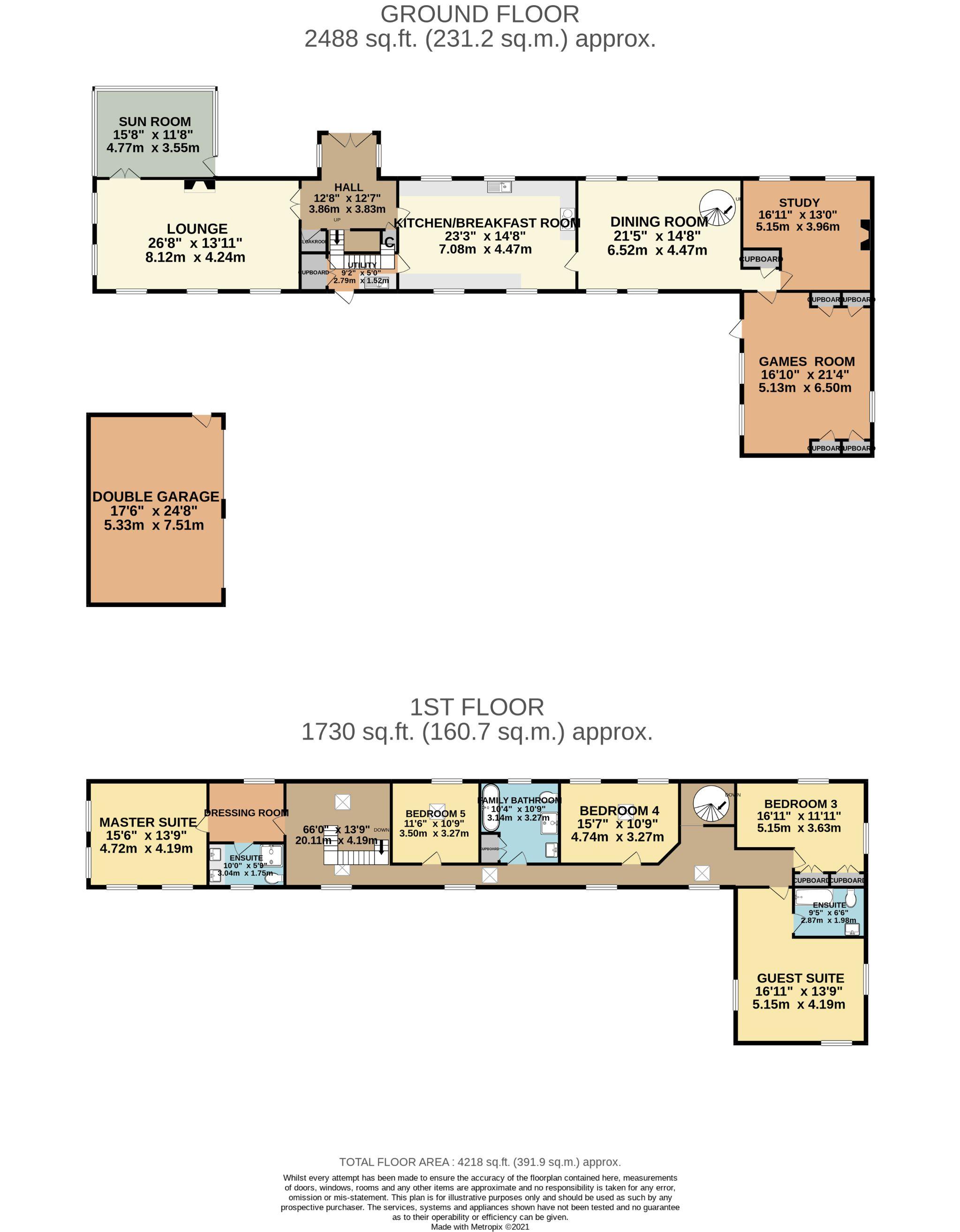 5 bedroom detached house For Sale in St. Marks - Floorplan 2