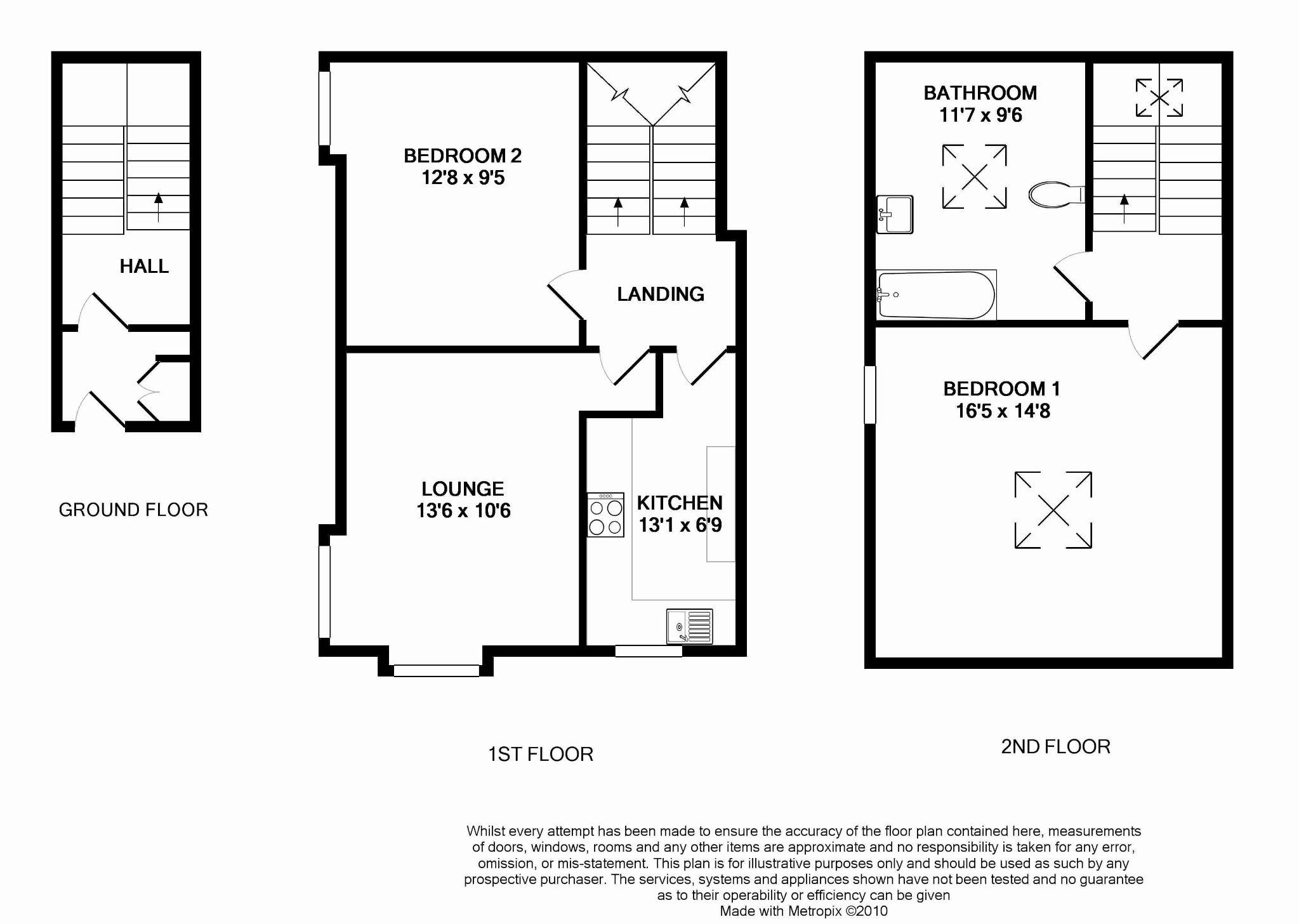 3 bedroom end terraced house For Sale in Douglas - Floorplan 2