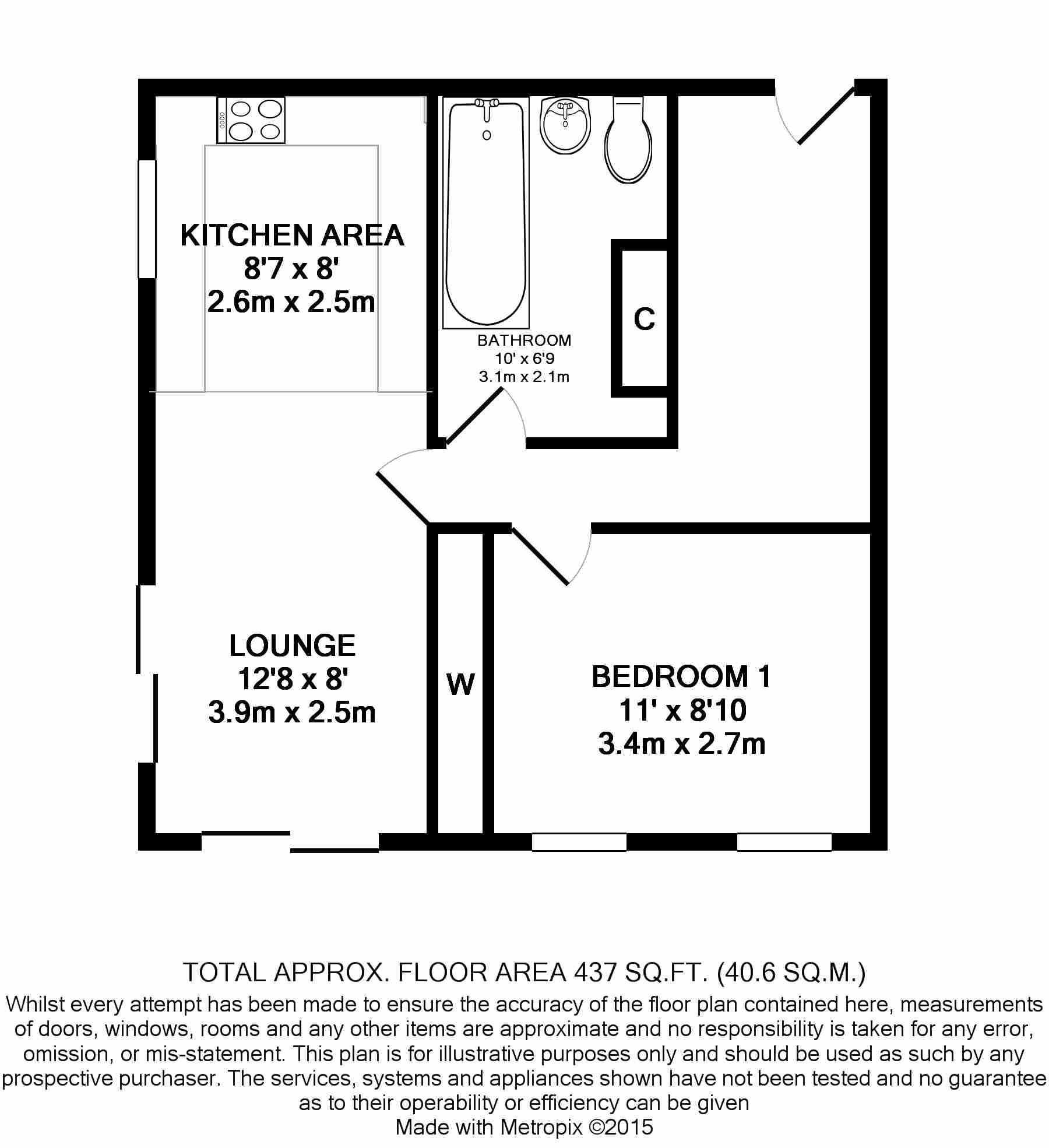 1 bedroom apartment flat/apartment For Sale in Union Mills - Floorplan 1