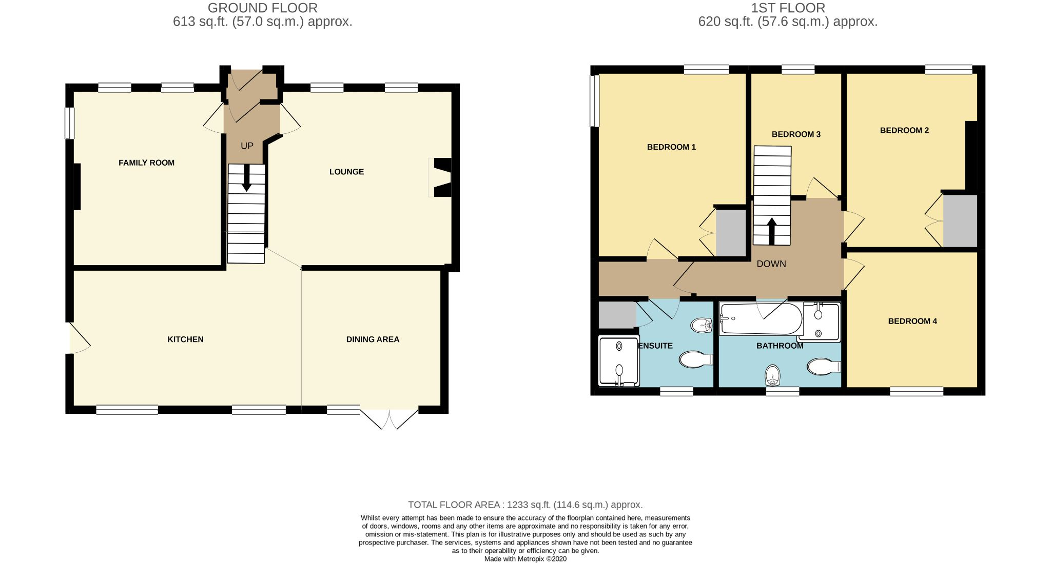 4 bedroom detached house For Sale in Colby - Floorplan 1