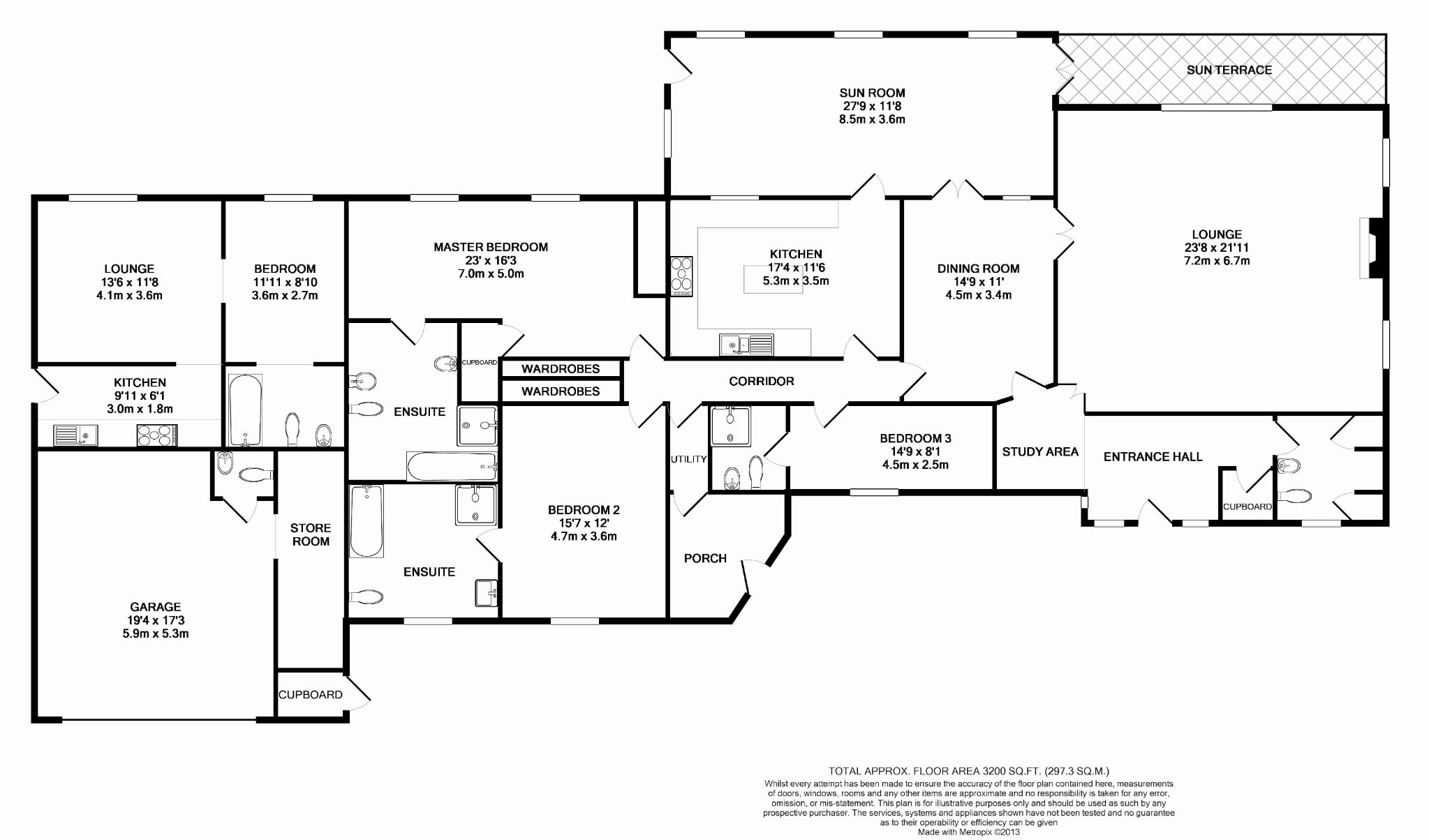 4 bedroom detached bungalow For Sale in Laxey - Floorplan 1