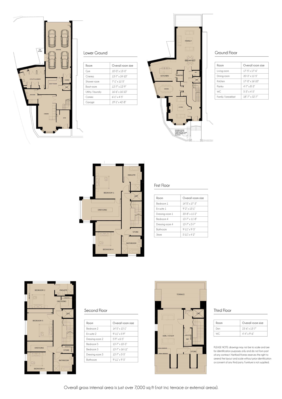 5 bedroom end terraced house For Sale in Douglas - Floorplan 1