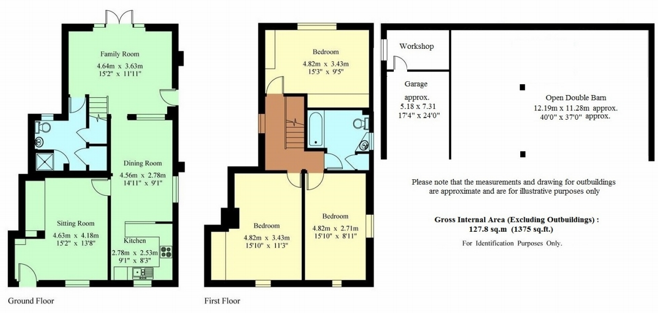 3 bedroom semi-detached house For Sale in Tonbridge - Floorplan 1