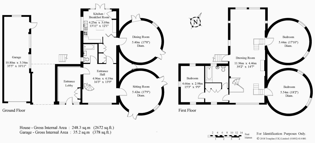 3 bedroom detached house Sold in Tonbridge - Floorplan 1