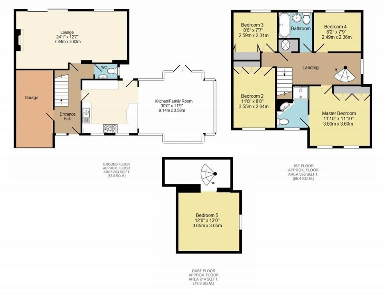 5 bedroom semi-detached house For Sale in Pratts Bottom - Floorplan 1
