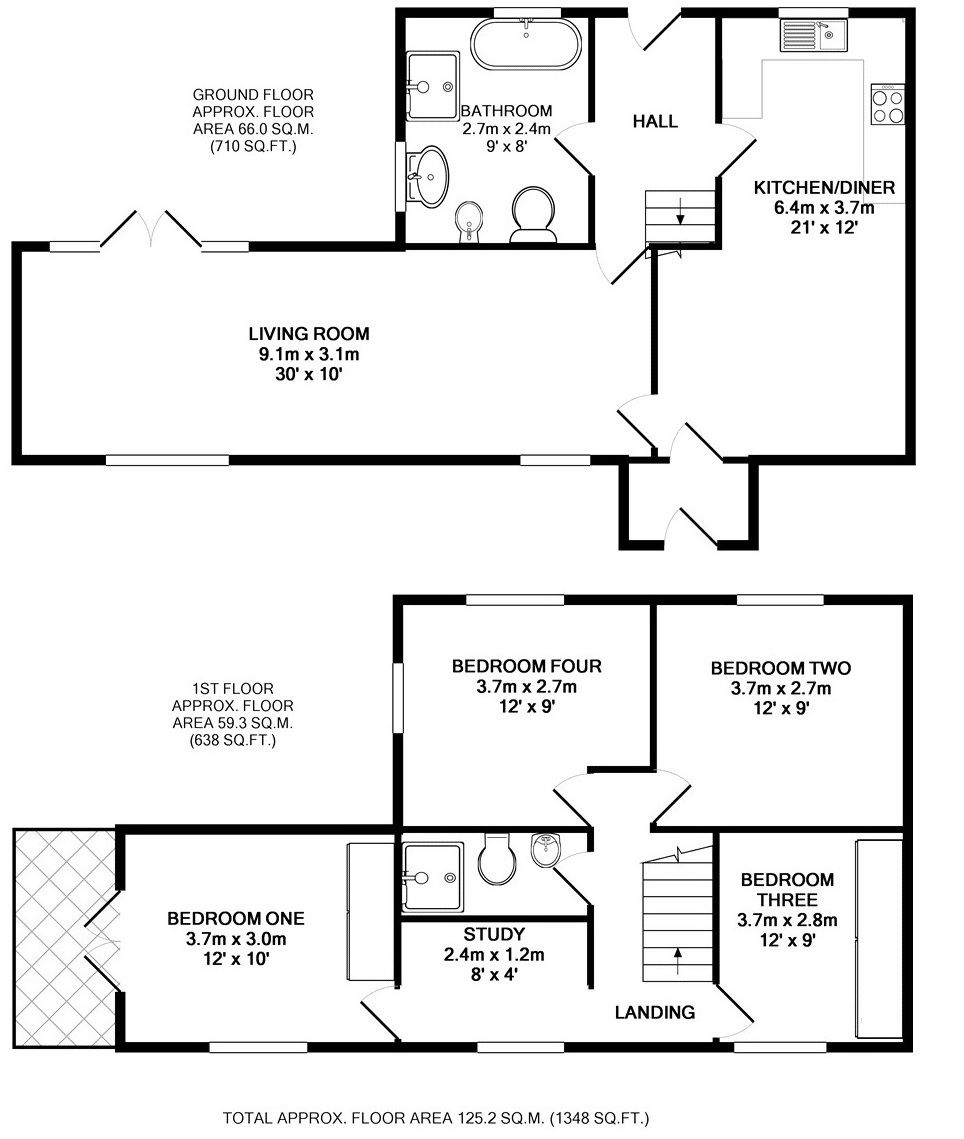 4 bedroom semi-detached house For Sale in Sevenoaks - Floorplan 1