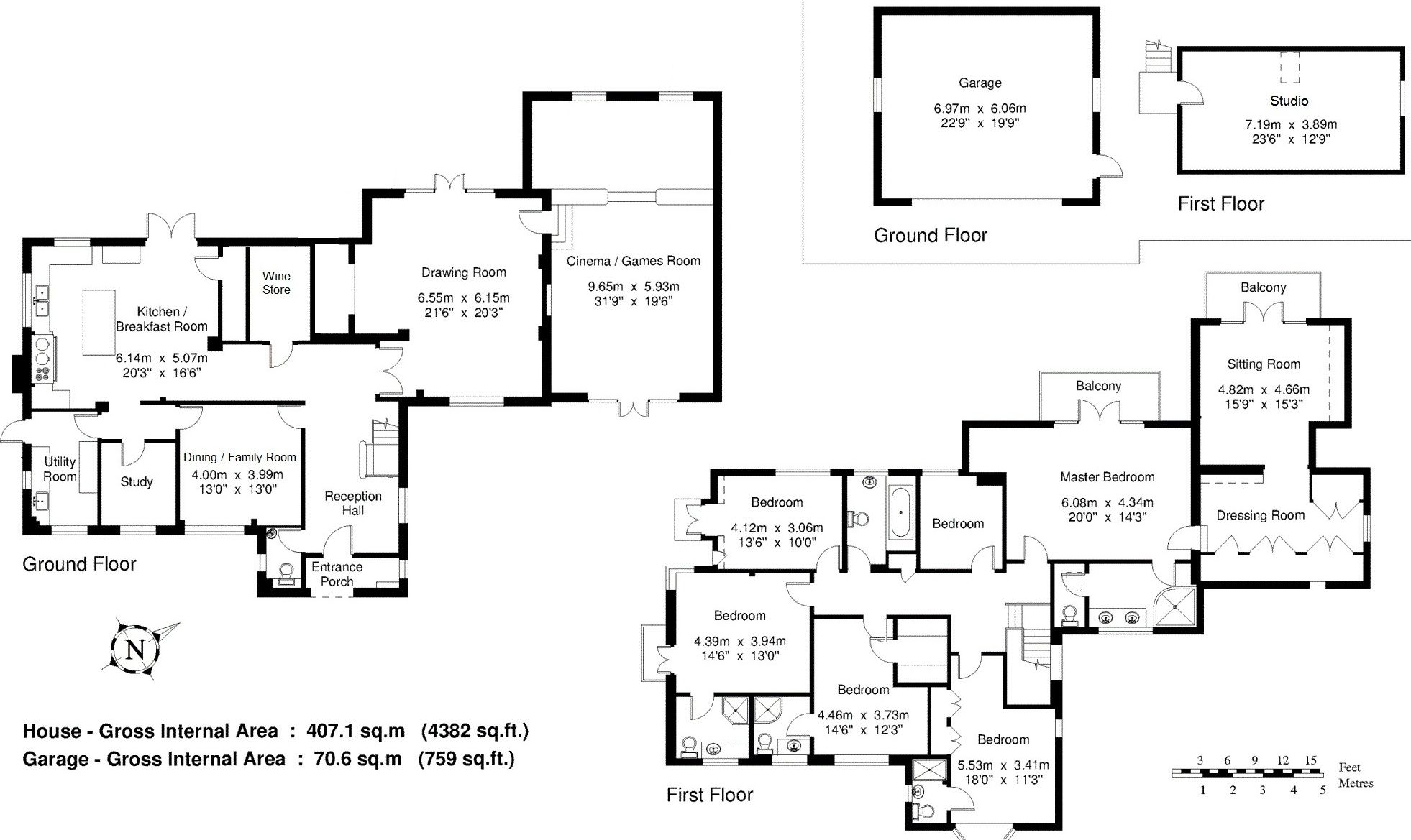 6 bedroom detached house For Sale in Sevenoaks - Floorplan 1