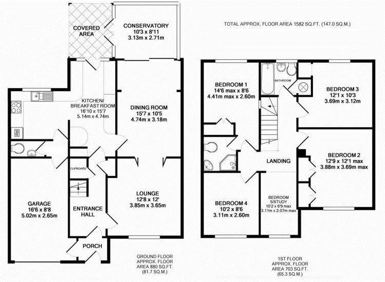 4 bedroom semi-detached house Sale Agreed in Sevenoaks - Floorplan 1