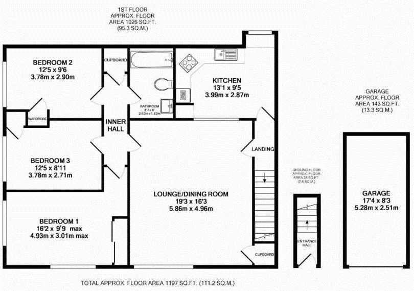 3 bedroom apartment flat/apartment To Let in Sevenoaks - Floorplan 1