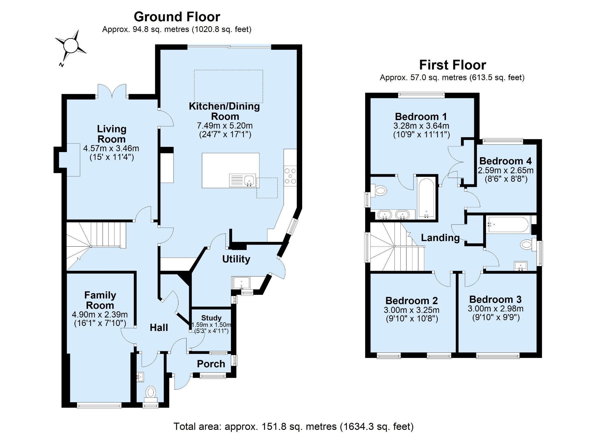 4 bedroom detached house For Sale in Sevenoaks - Floorplan 1