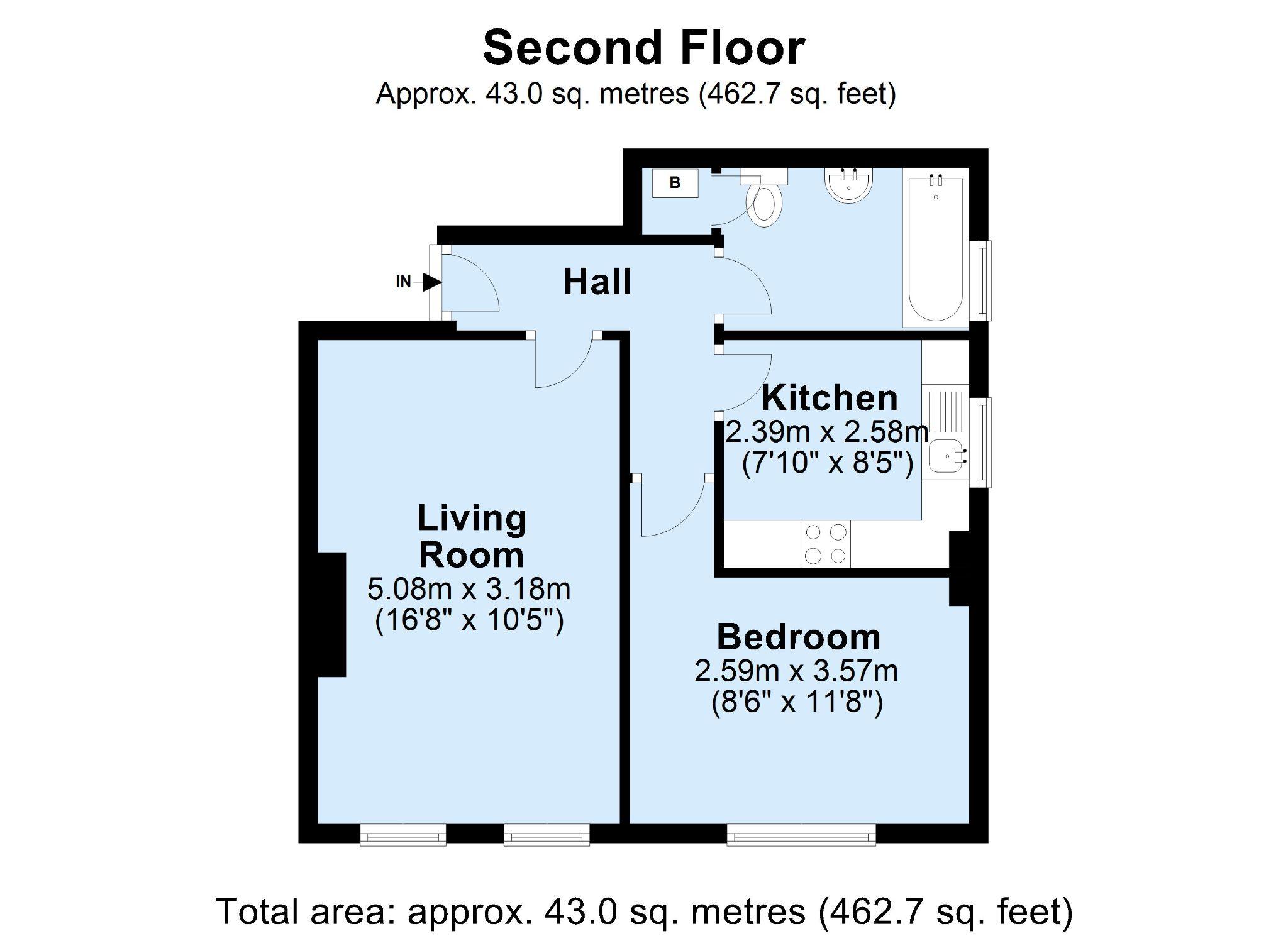 1 bedroom apartment flat/apartment For Sale in Sevenoaks - Floorplan 1