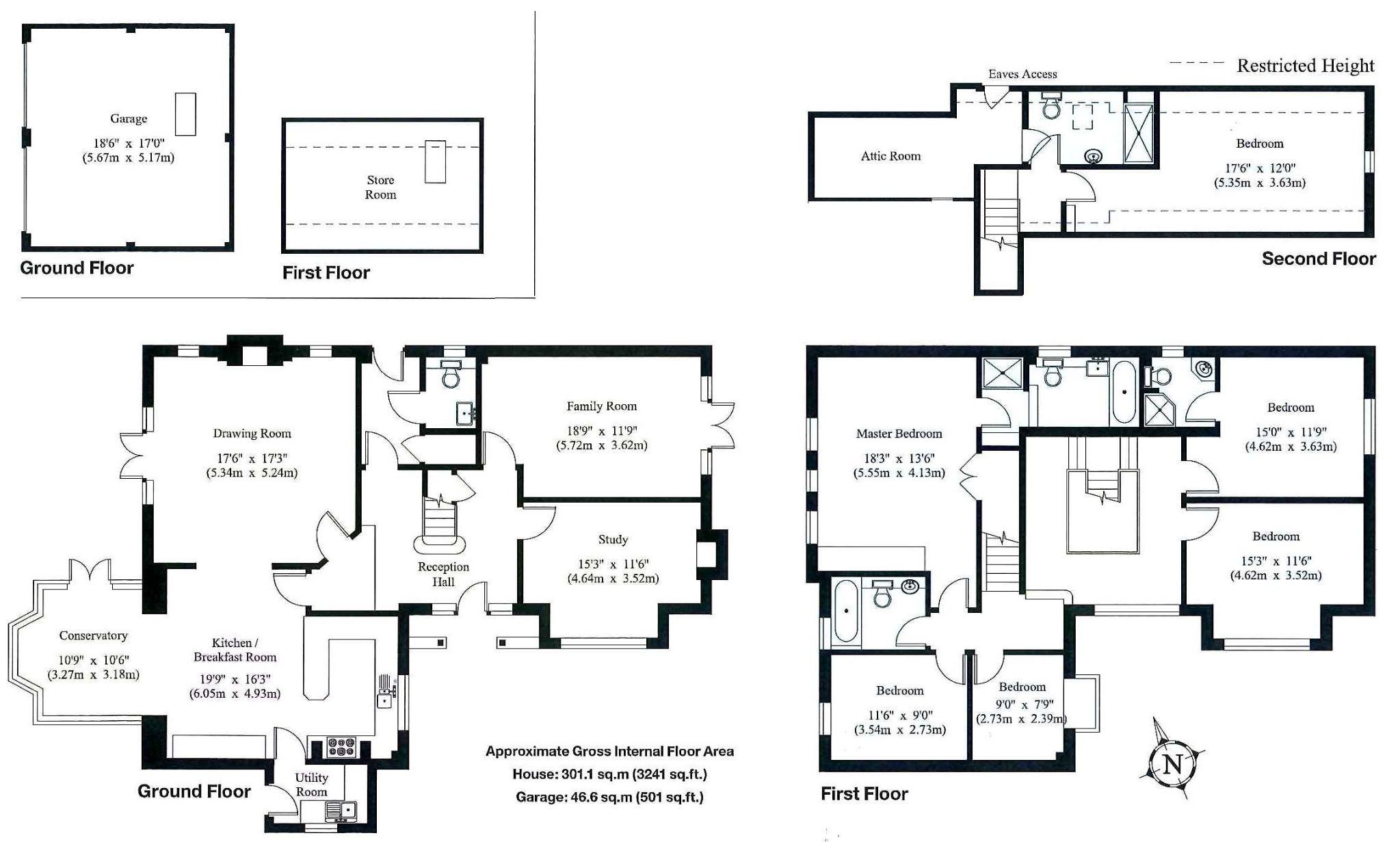 6 bedroom detached house Sale Agreed in Sevenoaks - Floorplan 1