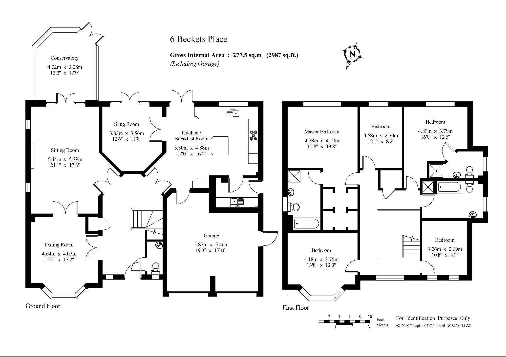 5 bedroom detached house Sold in Sevenoaks - Floorplan 1