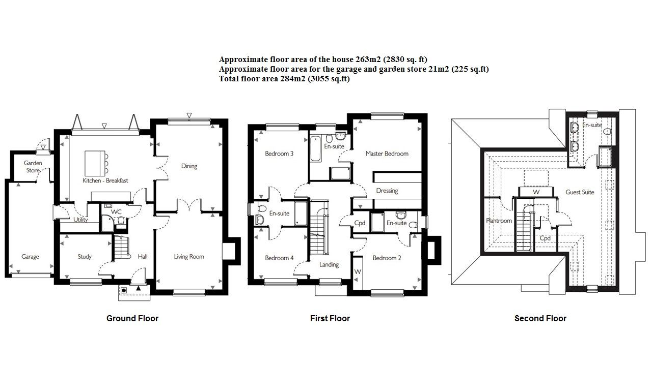 5 bedroom detached house Sale Agreed in Sevenoaks - Floorplan 1