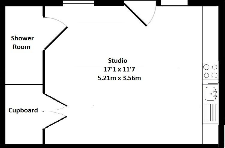 1 bedroom apartment flat/apartment To Let in Sevenoaks - Floorplan 1