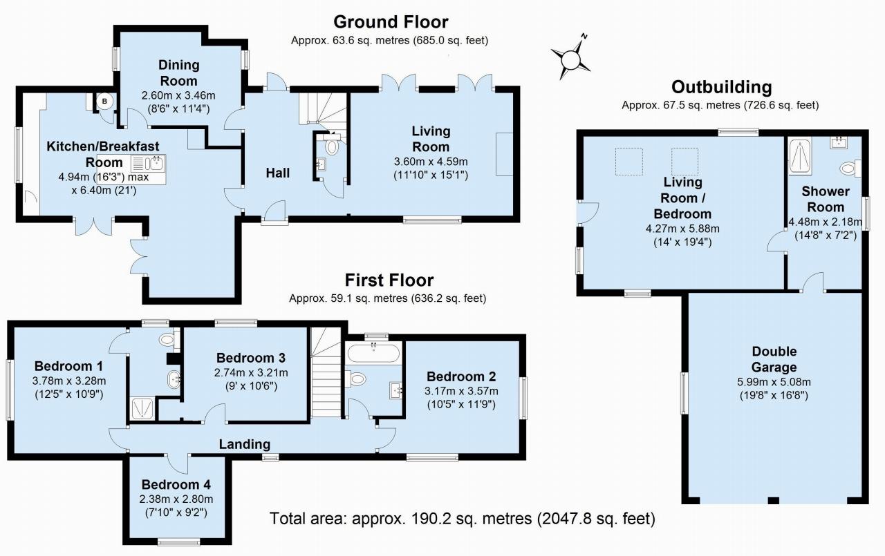 4 bedroom detached house Sold in Tonbridge - Floorplan 1
