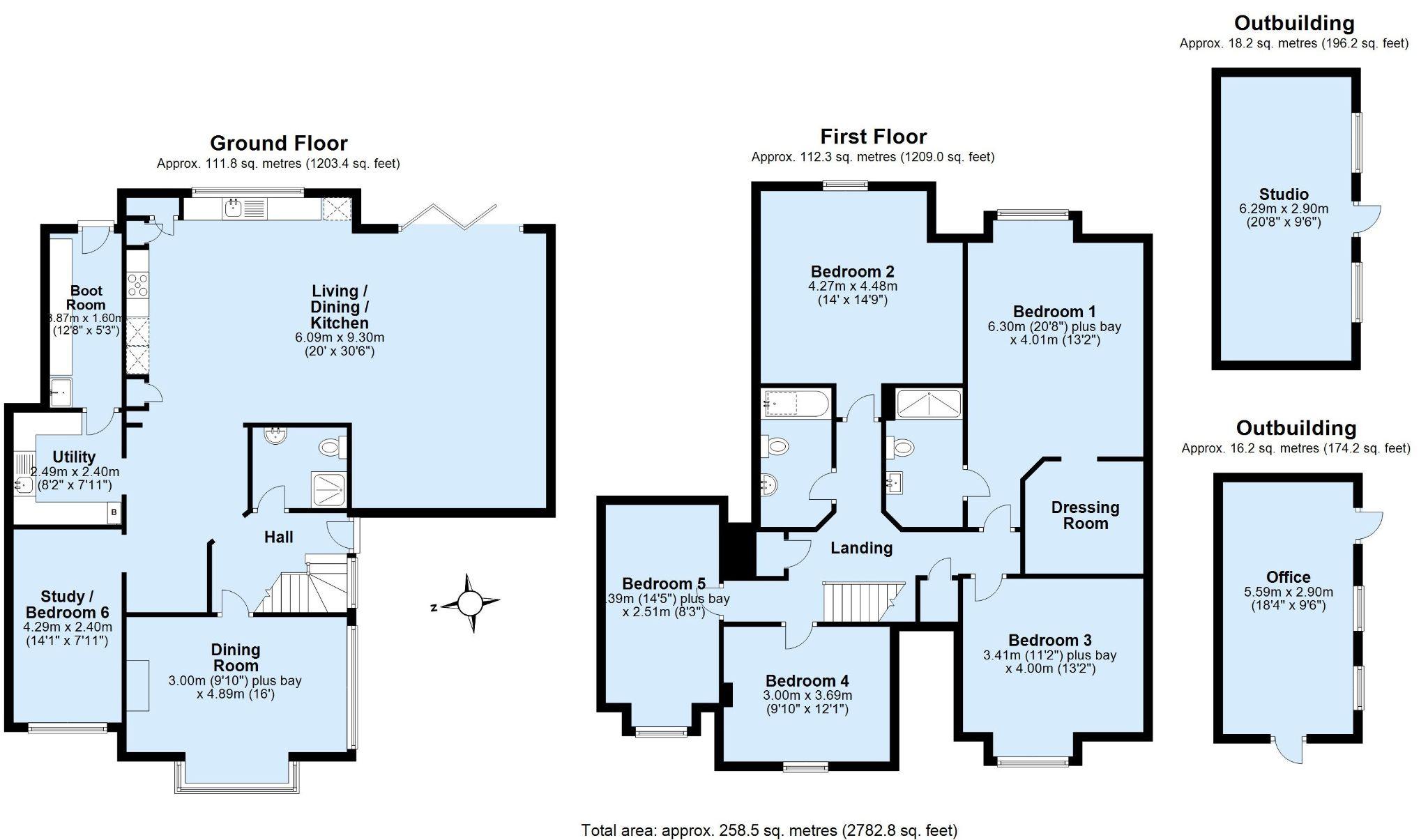 5 bedroom detached house Sold in Sevenoaks - Floorplan 1