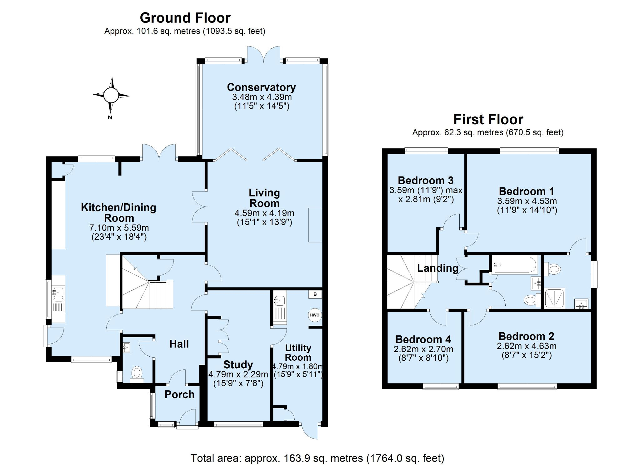 4 bedroom detached house Sold in Sevenoaks - Floorplan 1