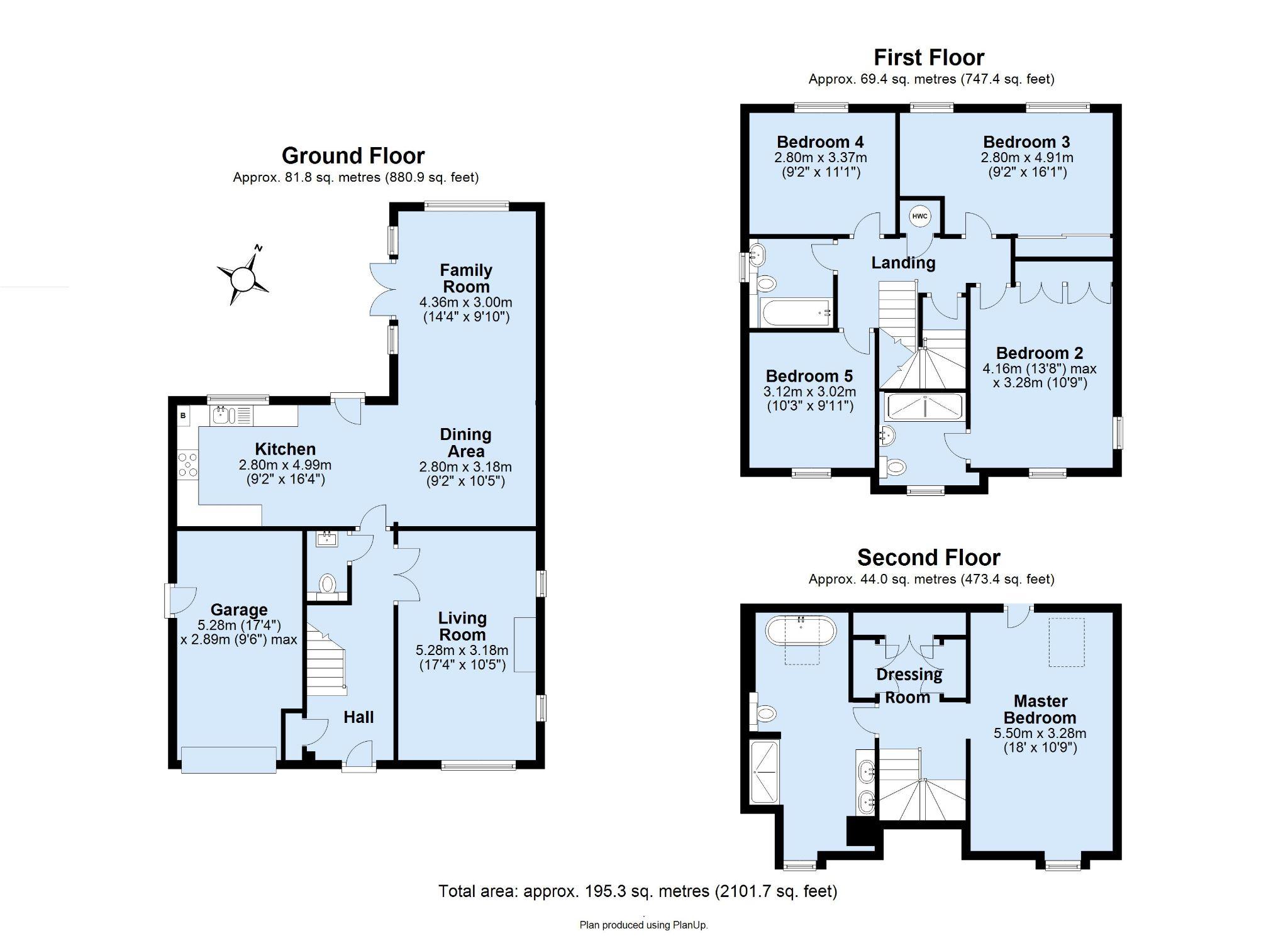 5 bedroom detached house For Sale in Sevenoaks - Floorplan 1