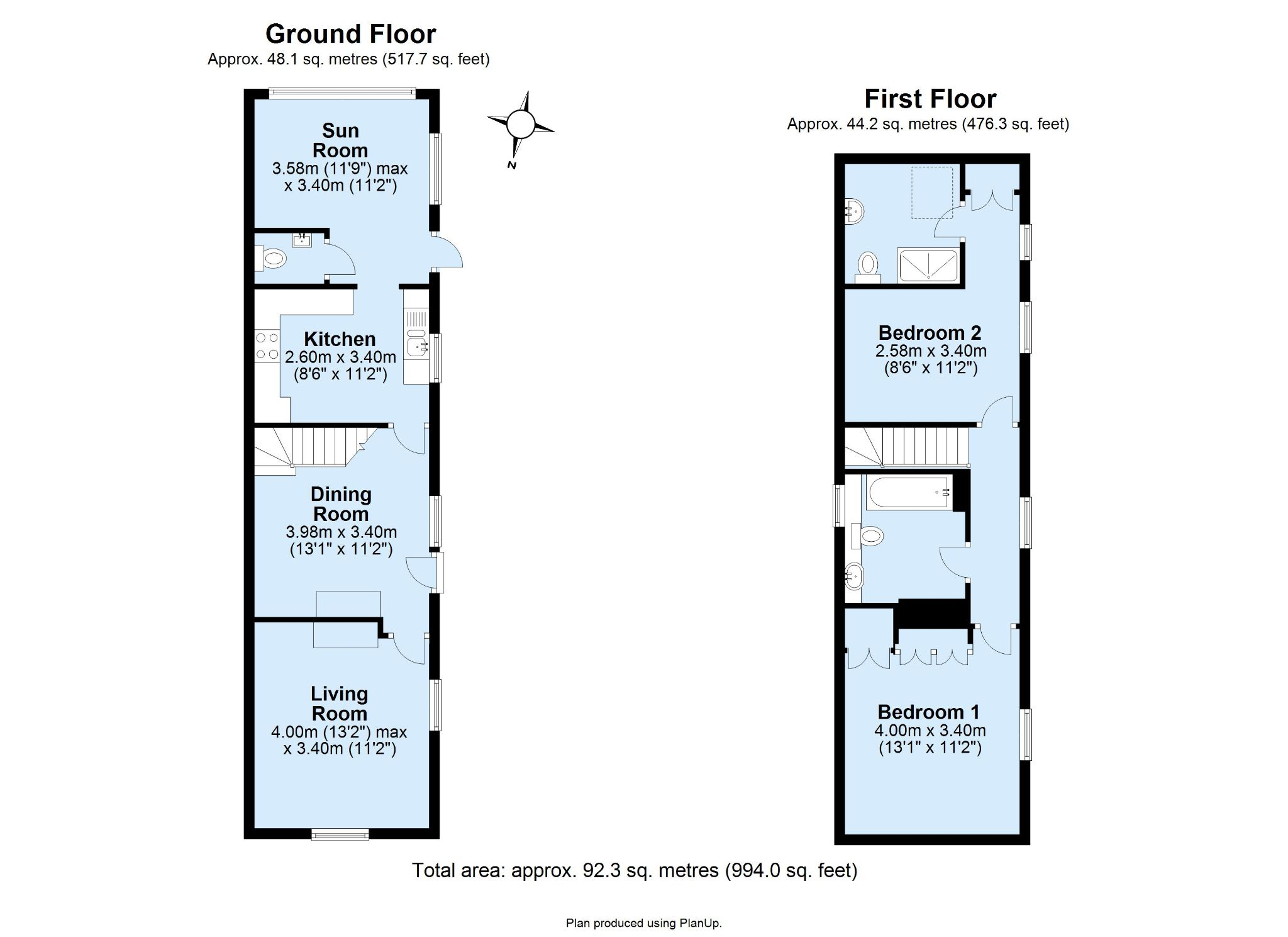 2 bedroom detached house For Sale in Sevenoaks - Floorplan 1