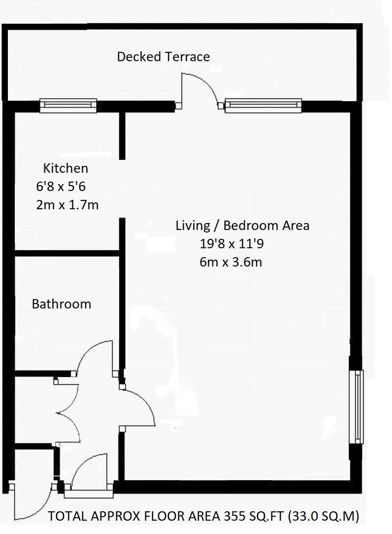 1 bedroom apartment flat/apartment Sold in Sevenoaks - Floorplan 1