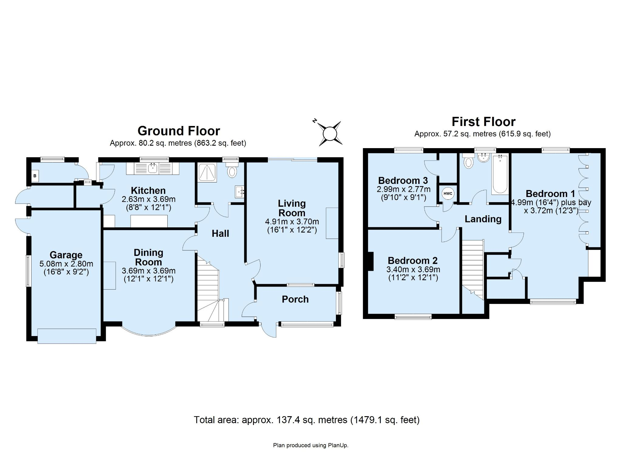 3 bedroom detached house Sale Agreed in Sevenoaks - Floorplan 1