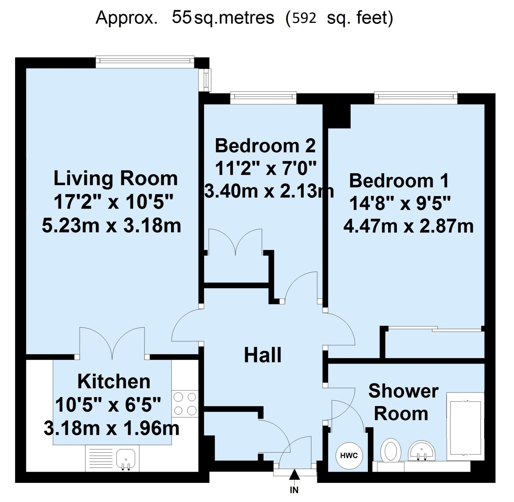 2 bedroom apartment flat/apartment For Sale in Sevenoaks - Floorplan 1