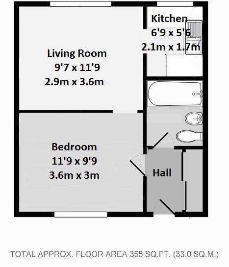 1 bedroom apartment flat/apartment Sale Agreed in Sevenoaks - Floorplan 1